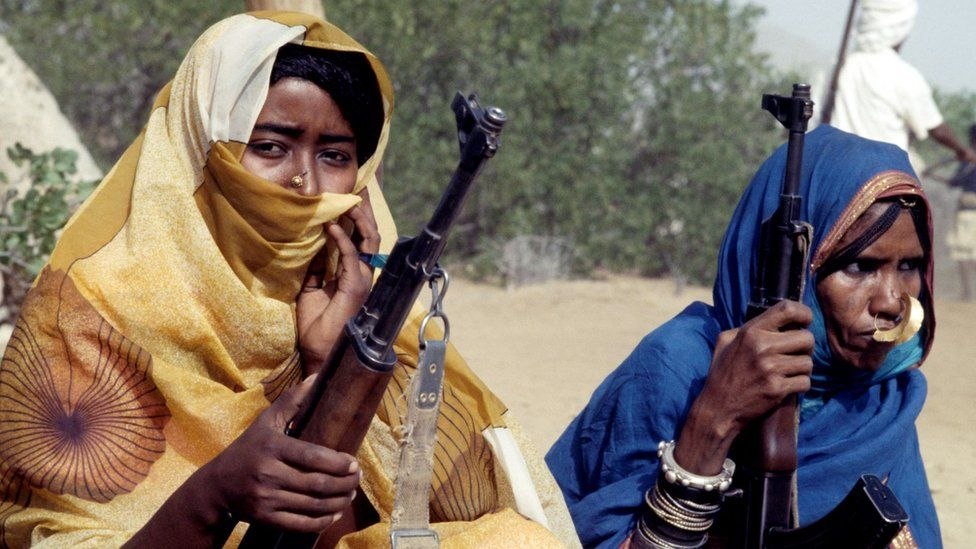 Female Eritrean People's Liberation Front (EPLF) fighters. 20th June 1978