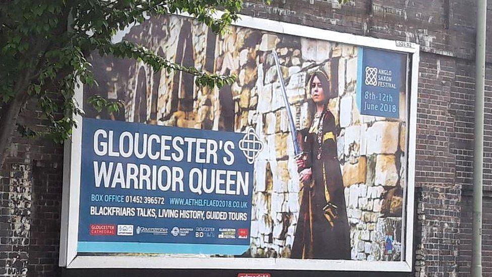 Poster for Gloucester's Aethelflaed festival