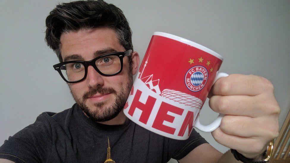 Jim Entwistle with his new mug