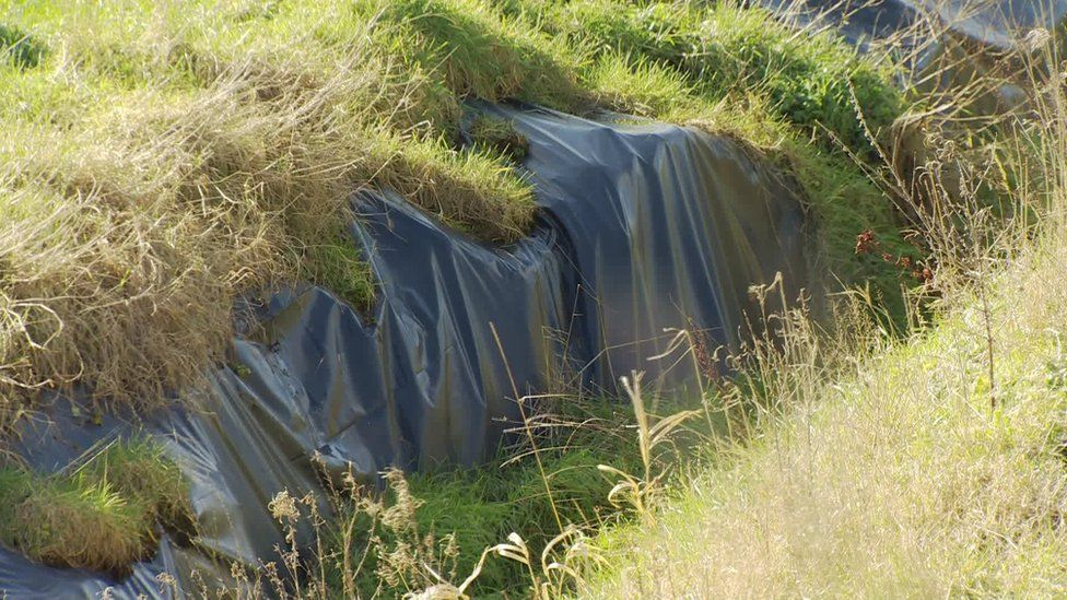 Barriers have been put in to stop leachate reaching the river