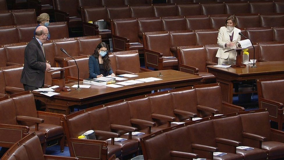 Lawmakers wearing masks in Congress