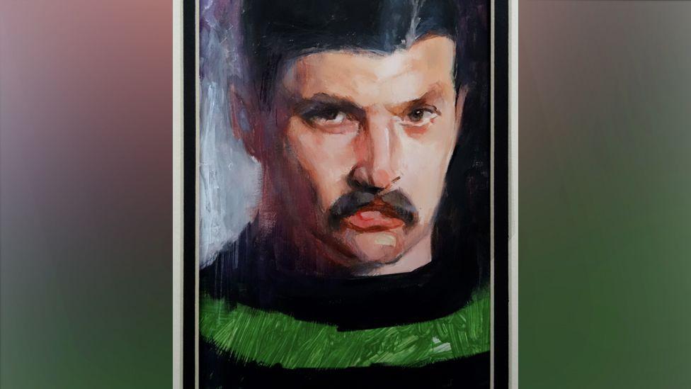 Painting of Jim Barker