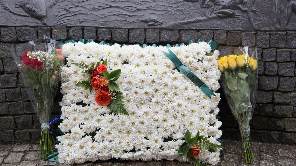 Flowers at the memorial
