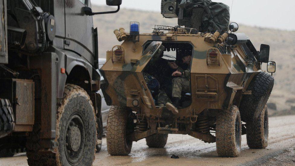 Turkish forces near Barsaya Hill, north-east of Afrin, Syria (23 January 2018)