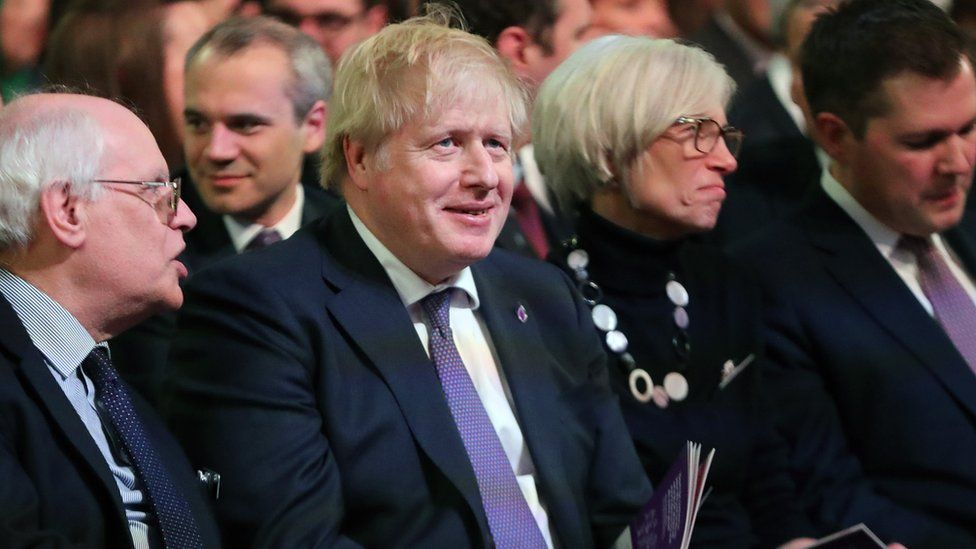 Prime Minister Boris Johnson at the Westminster event