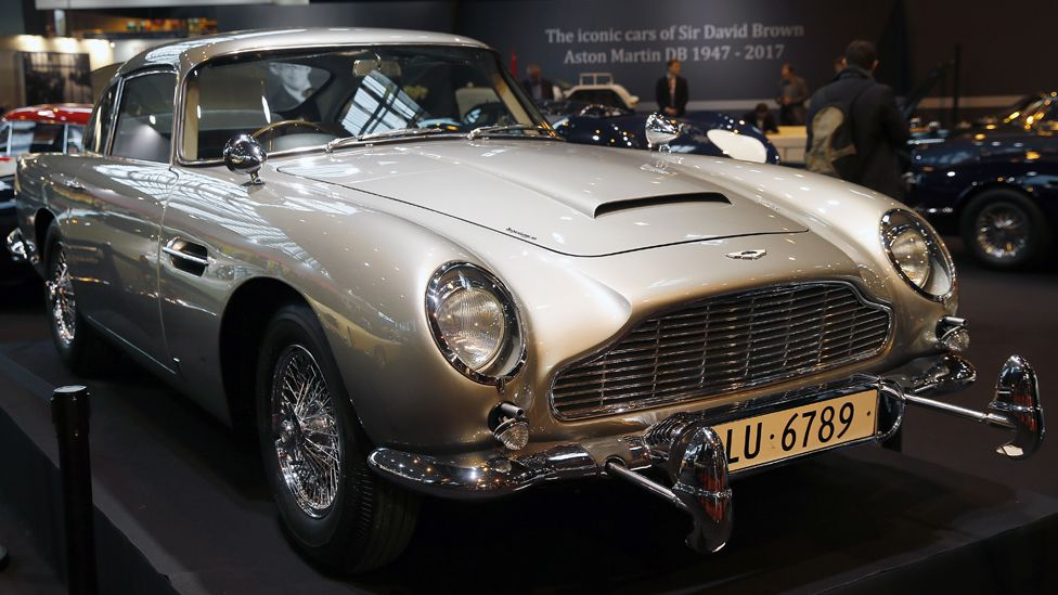 The Aston Martin DB5 from the James Bond movies