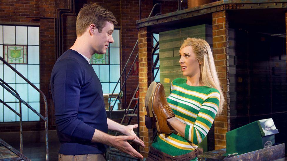 David Hunter (Charlie Price) and Verity Rushworth (Lauren)