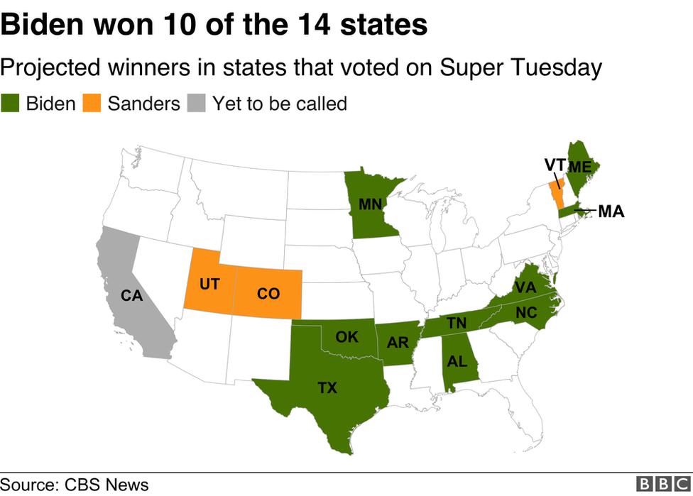 map of Biden's wins