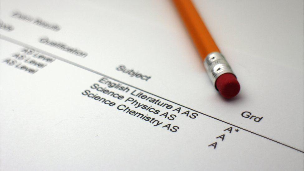 exam results sheet
