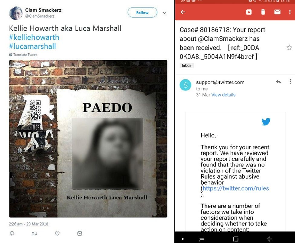 Tweet and email composite