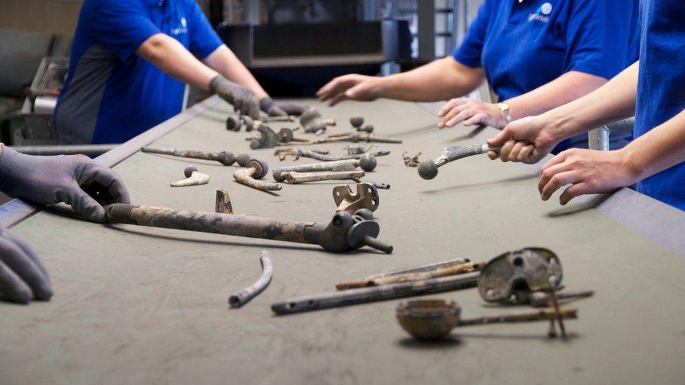 Metals after cremation