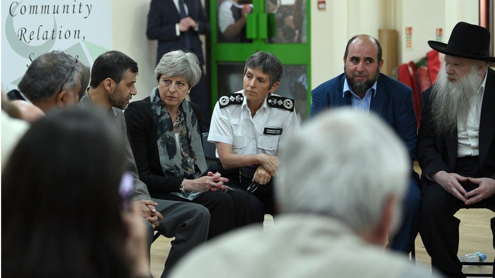 Theresa May and Met Police Commissioner, Cressida Dick meet Finsbury Park Mosque leaders