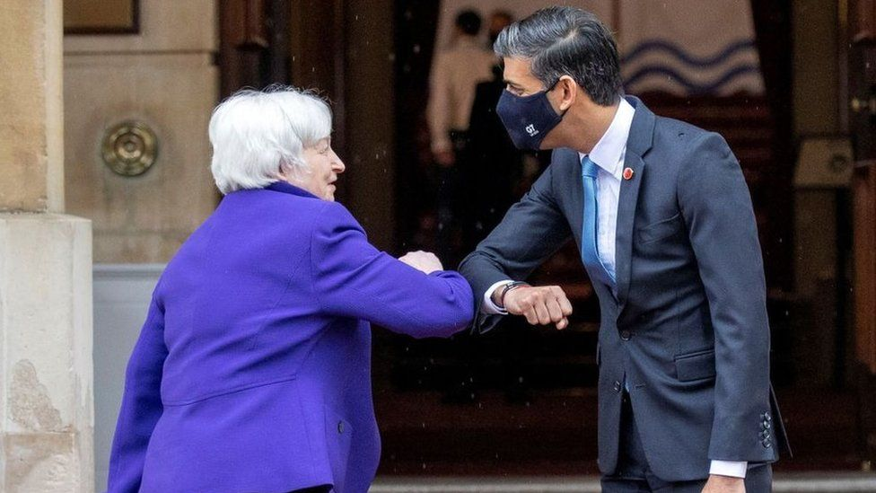 Janet Yellen and Rishi Sunak