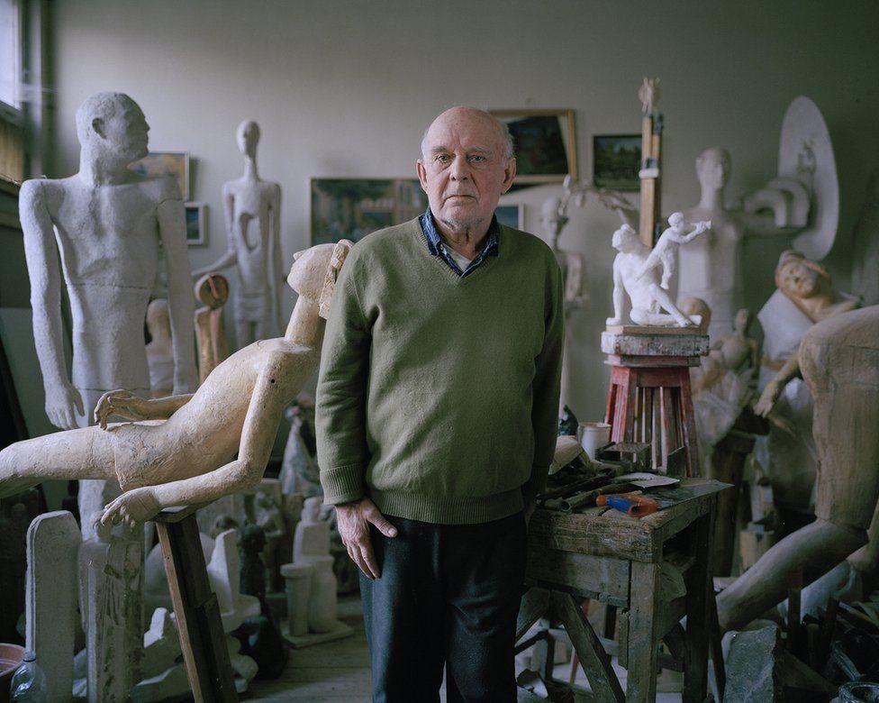 Anatoly Masharov in his studio
