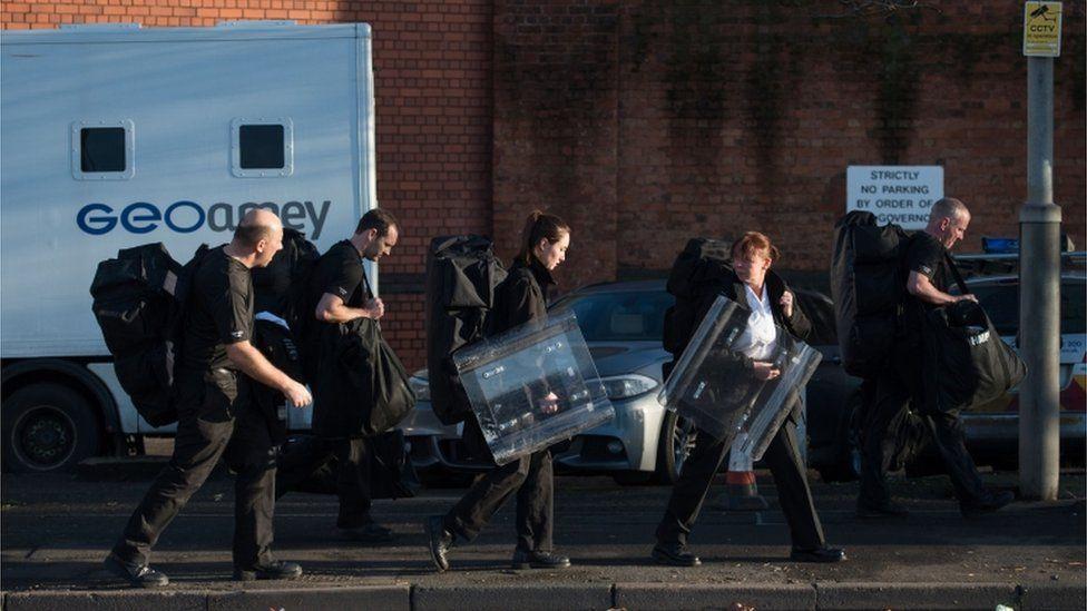 Prisoner officers from other sites arrive at scene