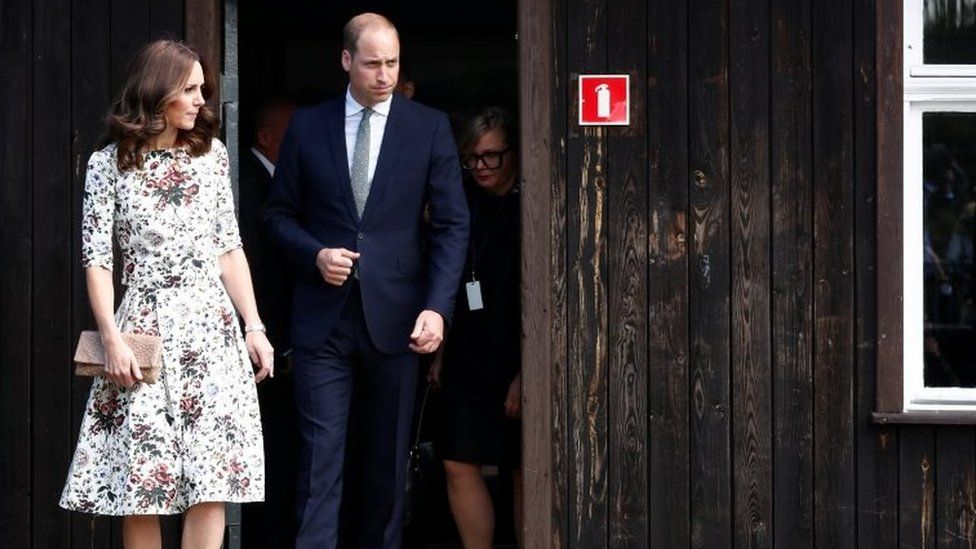 The Duke and Duchess of Cambridge at the museum of former German Nazi concentration camp Stutthof in Sztutowo,
