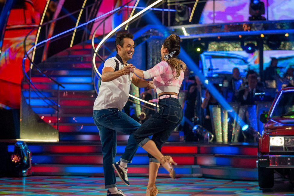 Joe McFadden and Katya Jones dance the jive