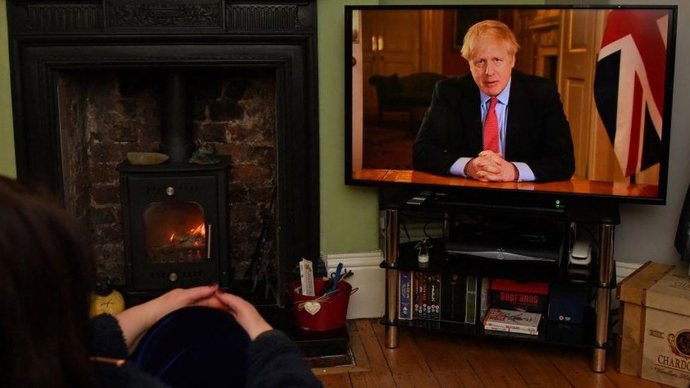 Boris Johnson broadcast