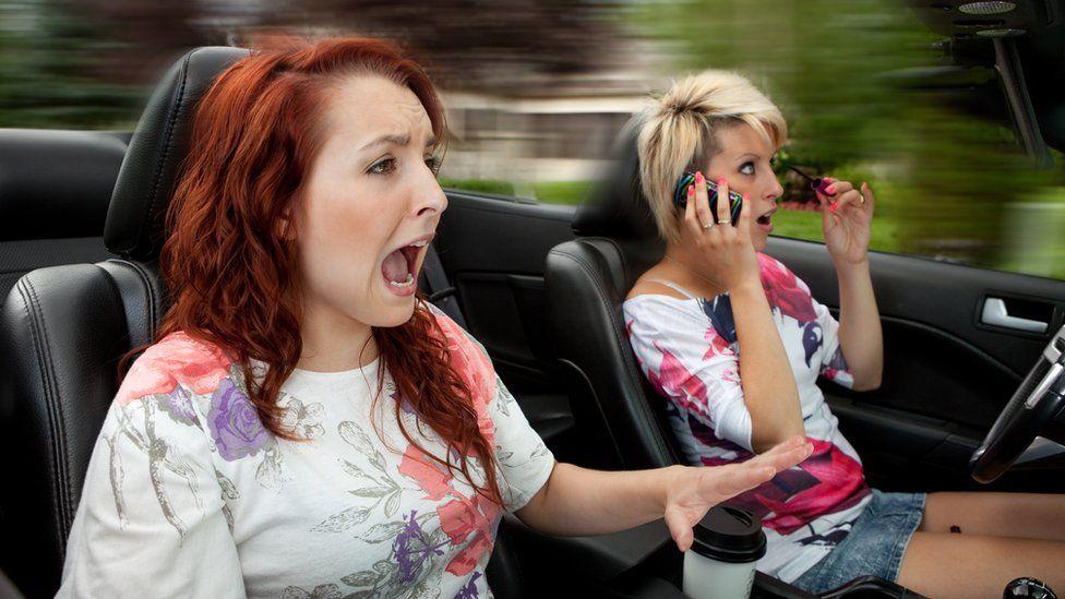 Terrified women drivers