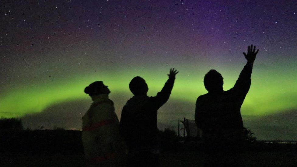 Aurora from Toab in Orkney