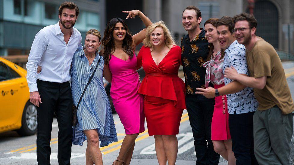 Rebel Wilson filming Isn't It Romantic alongside Liam Hemsworth, Priyanka Chopra and Adam Devine