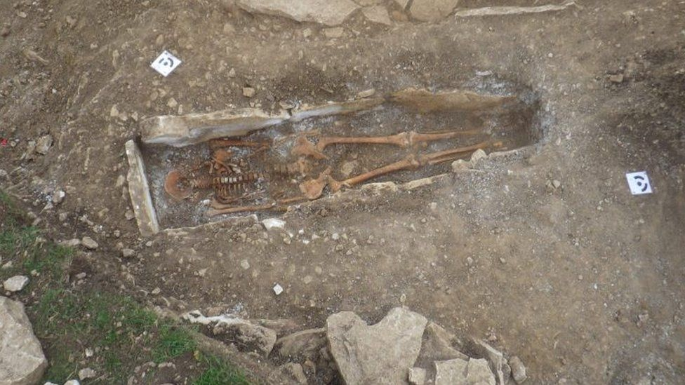 Skeleton unearthed by archaeologists