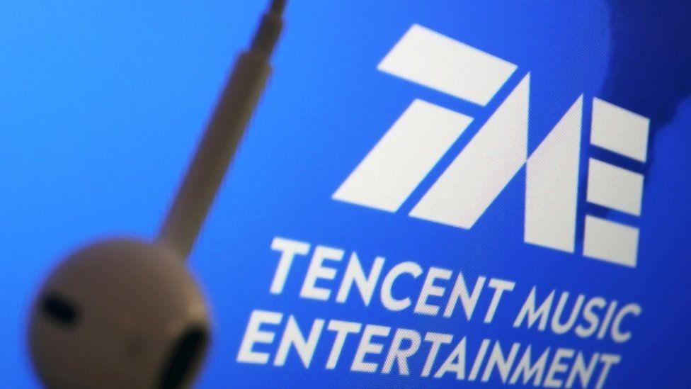 Tencent Music Entertainment Group logo next to an earphone.