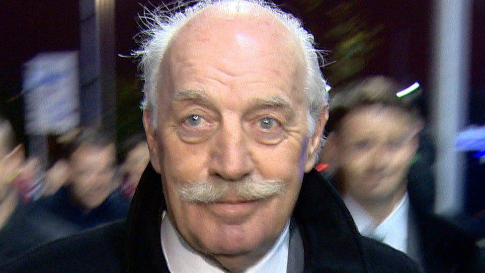 The BBC attended Celtic Park to question Dermot Desmond about the tax arrangements