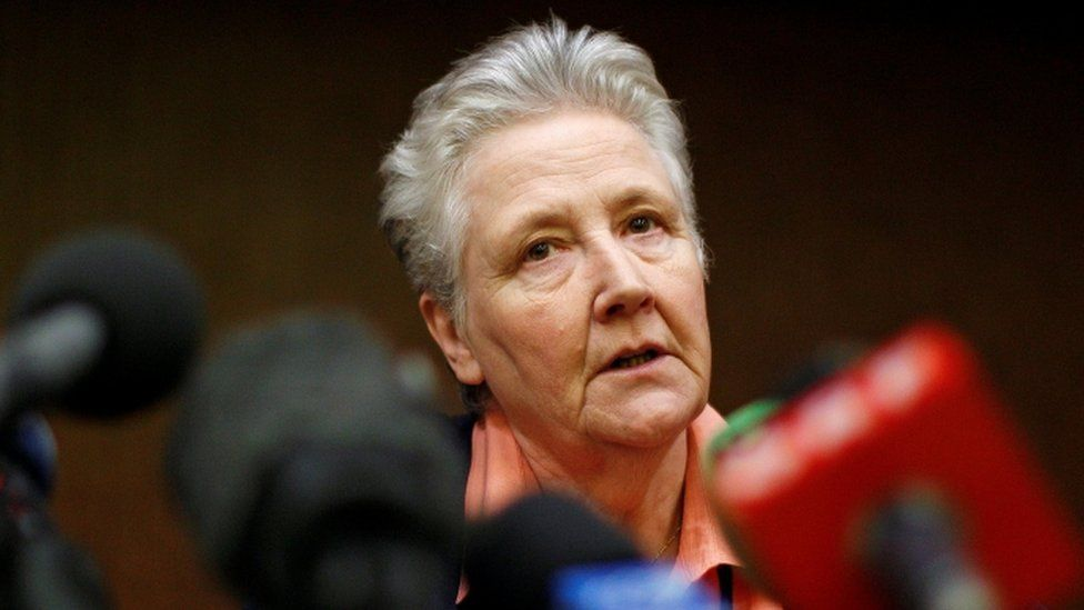 Irish abuse victim Marie Collins talks during a news conference in Rome February 7, 2012.