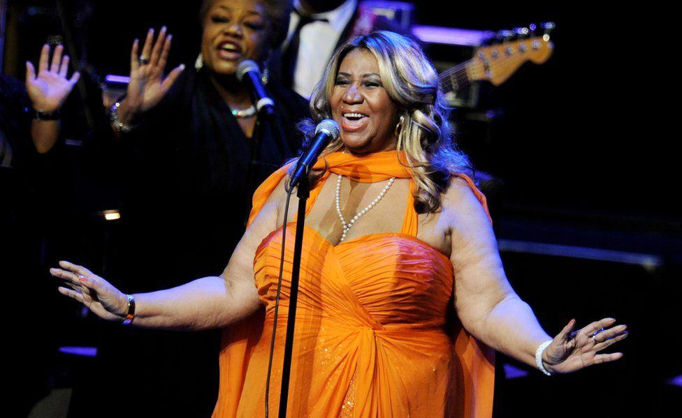 Aretha Franklin performing in LA in 2012