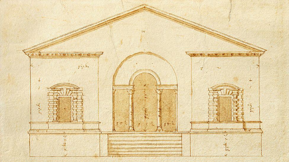 Design for Villa Valmarana, Vigardolo - by Andrea Palladio, circa 1560