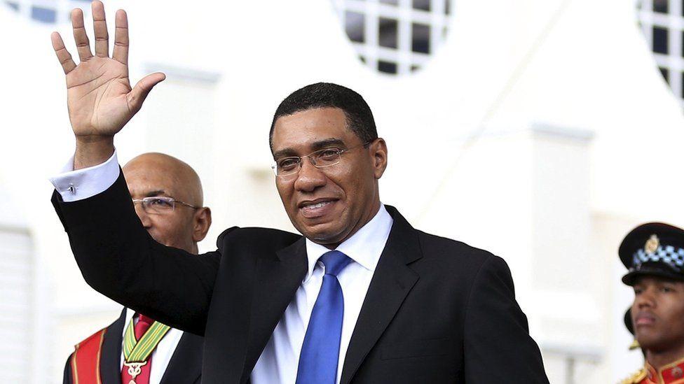 Jamaican premier Andrew Holness