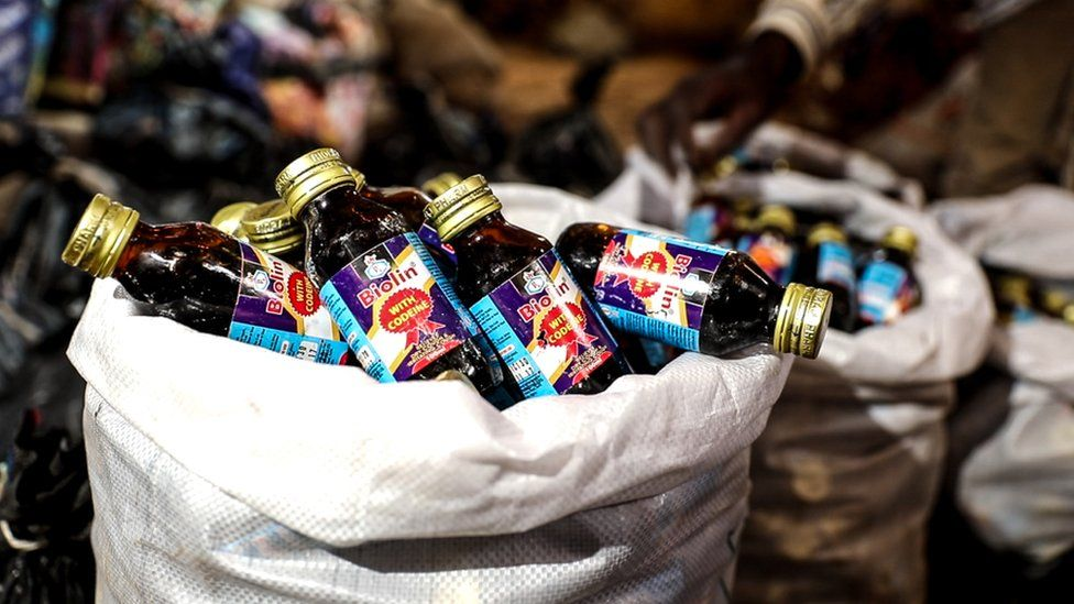 Picture of bottles of codeine