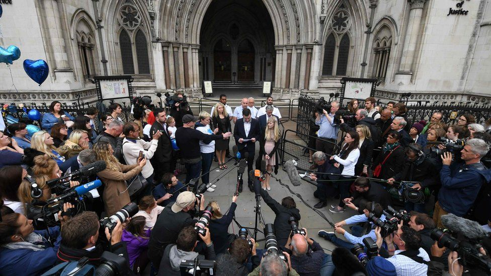 Charlie Gard's parents outside court