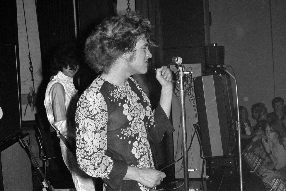 The band New Yardbirds performing in Copenhagen in 1968