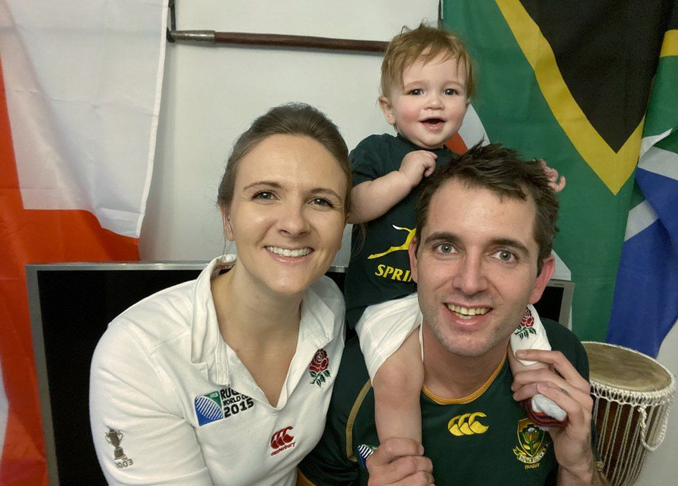 Mel and Kris with son Finley