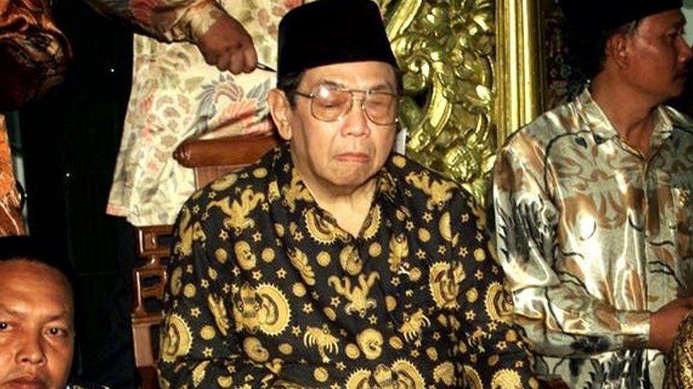 Indonesian President Abdurrahman Wahid in Pasuruan (February, 2001)
