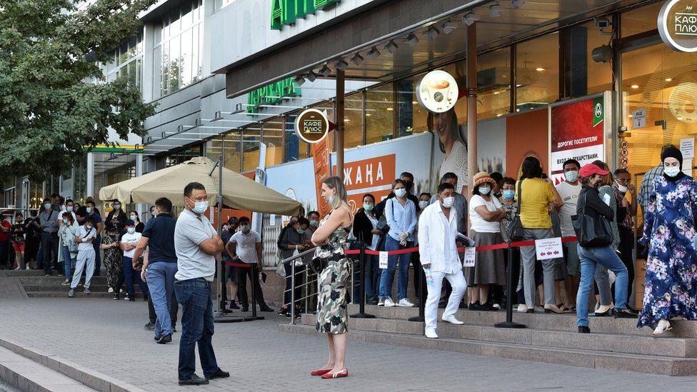 queue at Almaty pharmacy