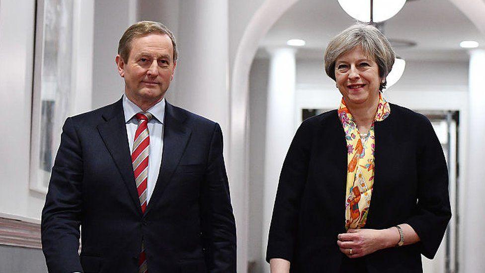 British Prime Minister Theresa May and Irish Taoiseach Enda Kenny