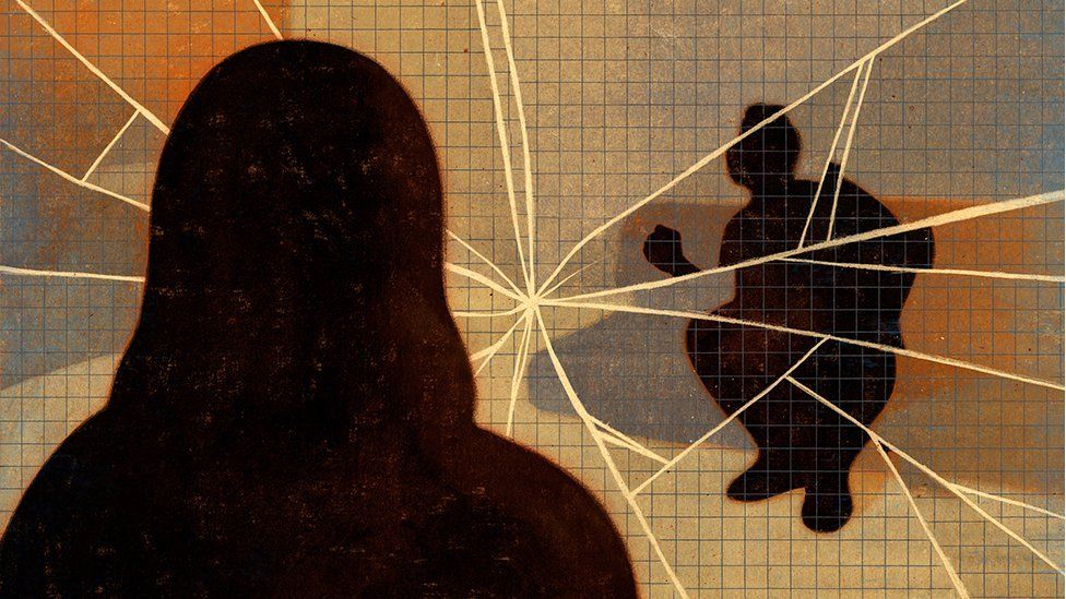 Illustration representing a violent relationship