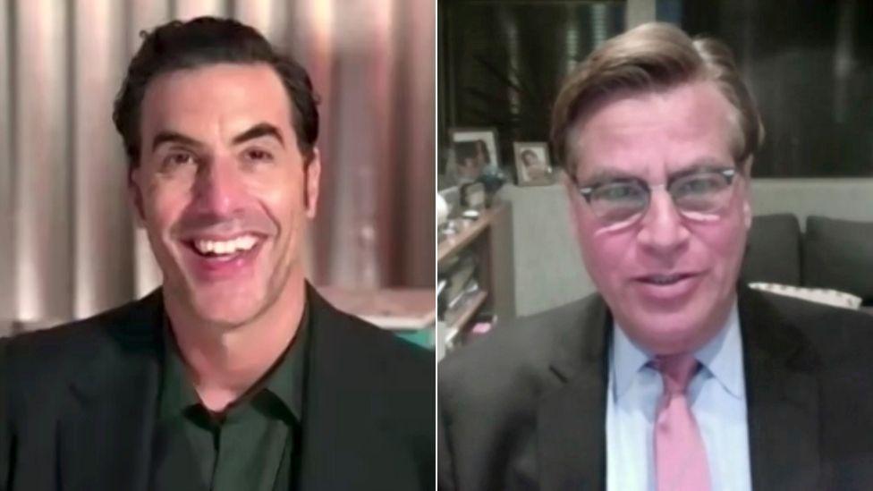 Sacha Baron Cohen and Aaron Sorkin