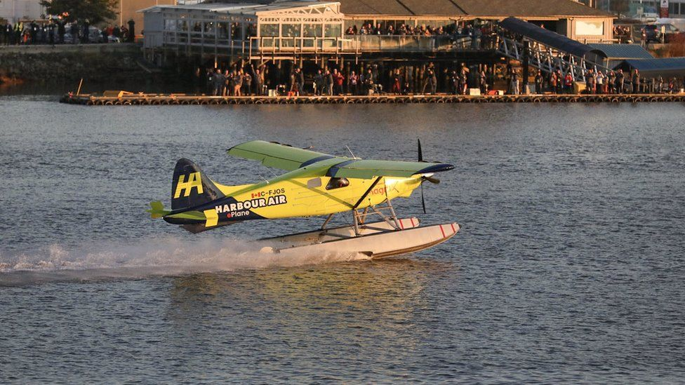 A Harbour Air electric aircraft