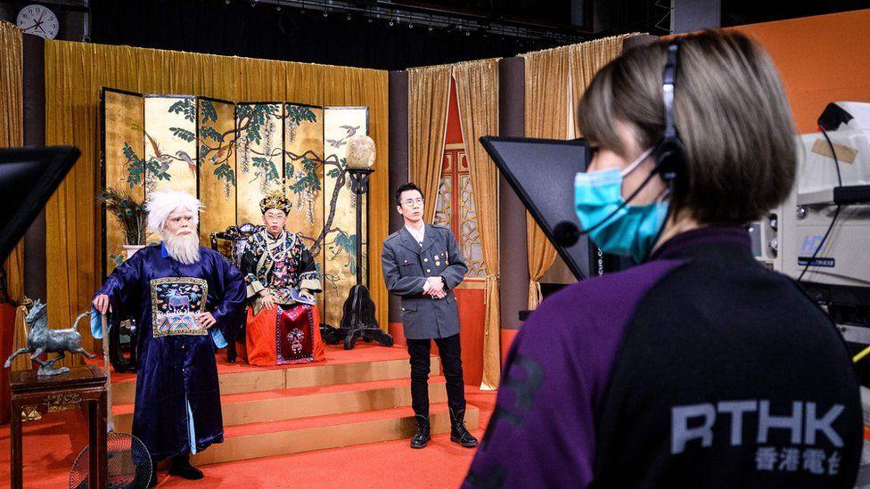 Filming of popular satirical show Headliner