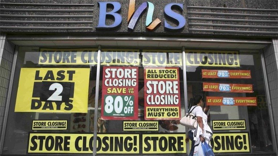 BHS store closing down