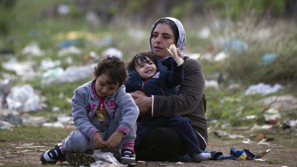 Migrants in Macedonia near Gevgelija, 23 Sept