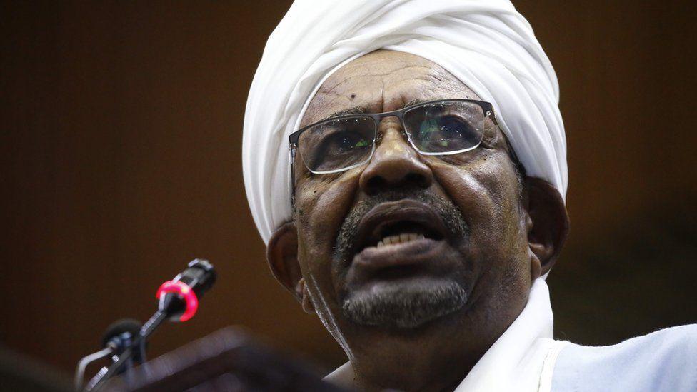 Omar al-Bashir on 1 April 2019