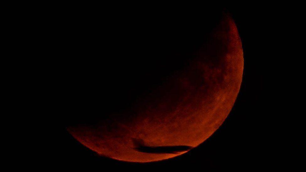 Matt Morris' image of the Moon over Bradley Stoke