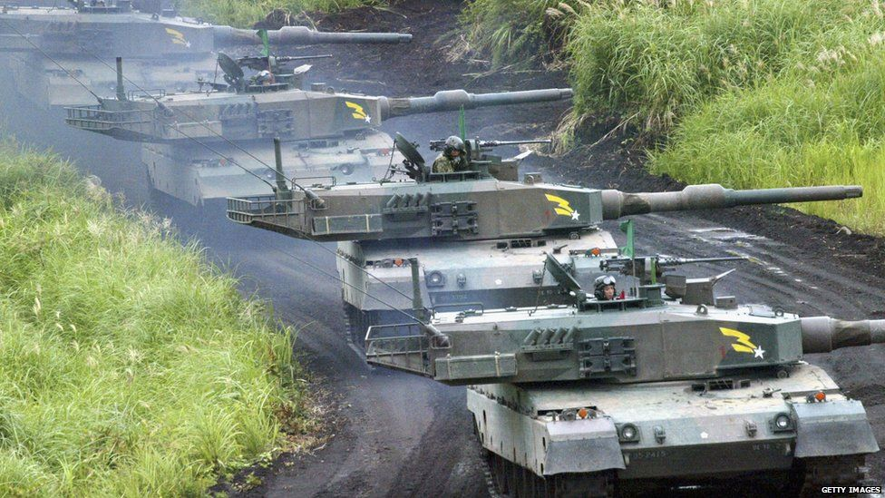 Japan Defence Forces on exercise