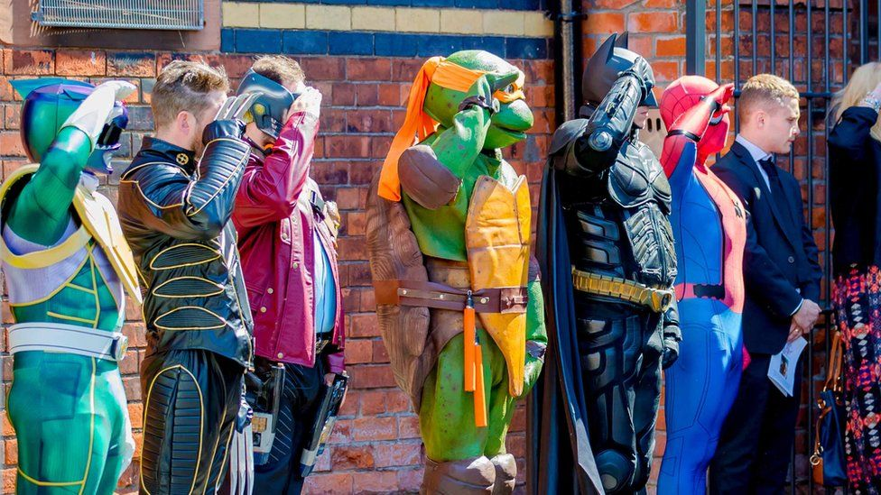 A superhero salute at the funeral of Belfast boy Jayden Morrow
