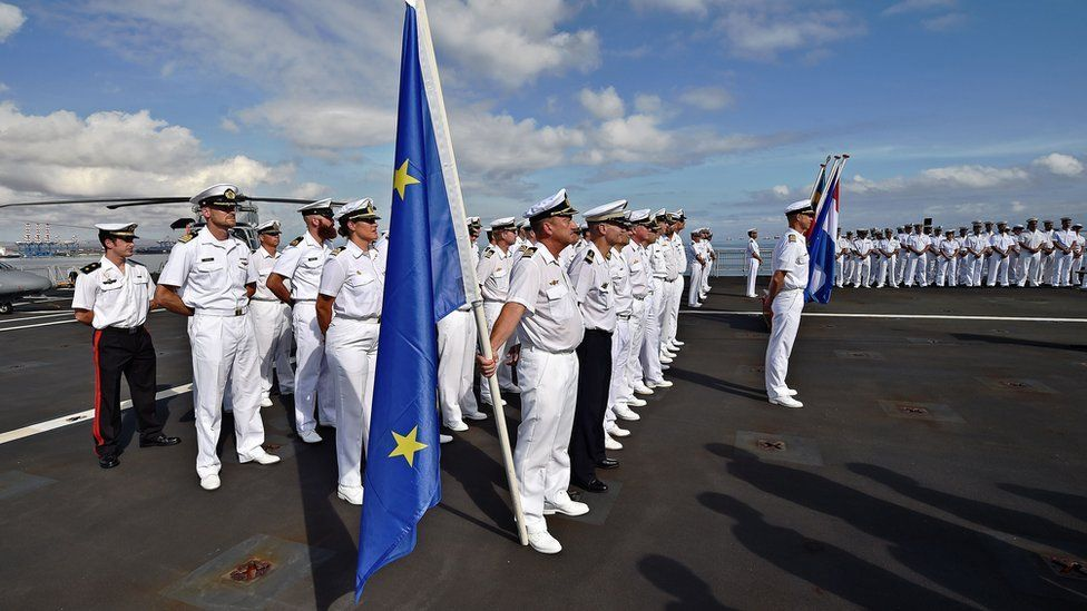 EU naval parade in Djibouti